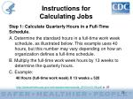 instructions for calculating jobs