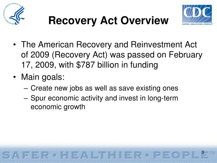 Recovery act overview