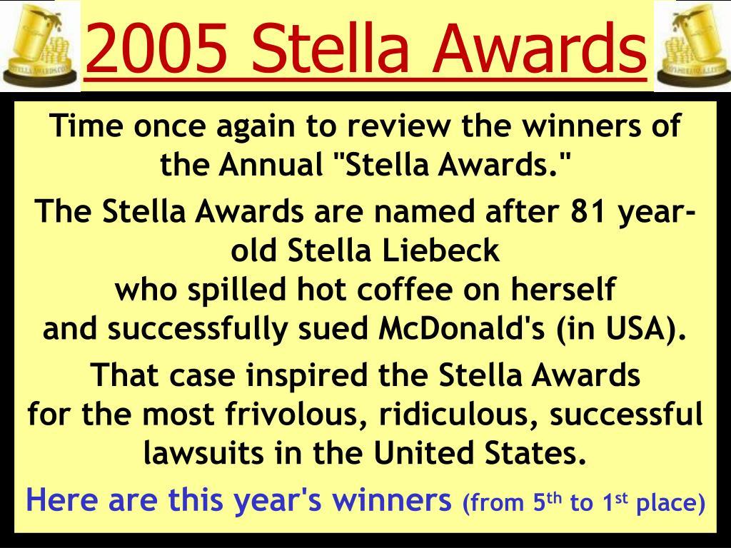 2005 stella awards l.
