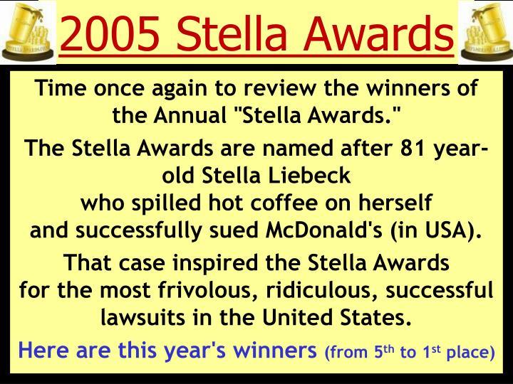 2005 stella awards n.