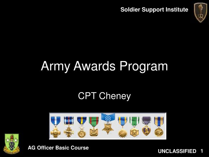 Ppt army awards program powerpoint presentation id182067 army awards program toneelgroepblik Choice Image
