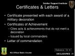 certificates letters