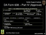 da form 638 part iv approval