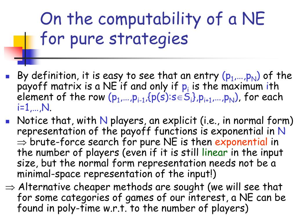 On the computability of a NE