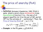 the price of anarchy poa