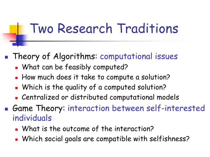 Two research traditions