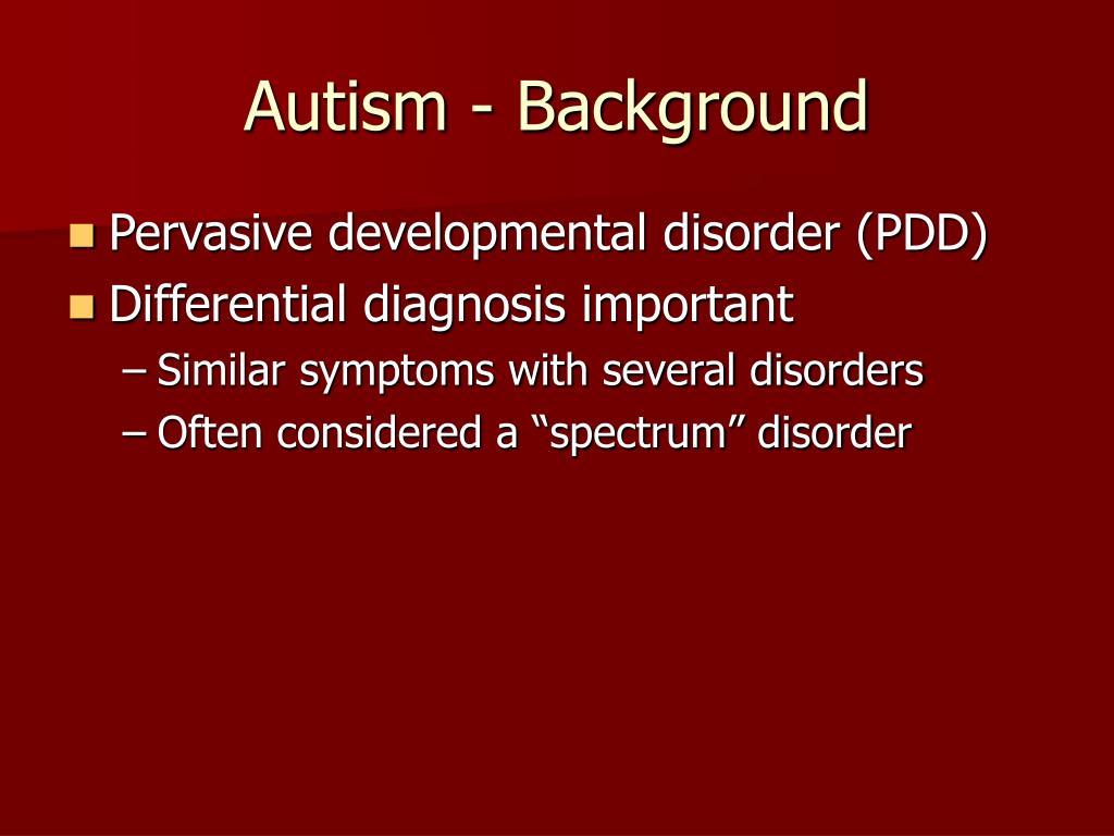 autism background l.