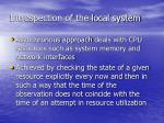 introspection of the local system43