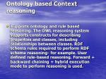 ontology based context reasoning