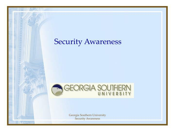 security awareness n.