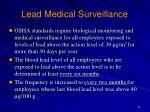lead medical surveillance