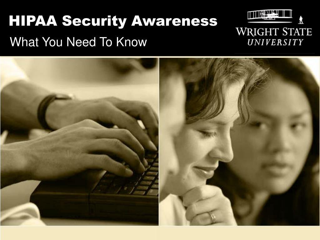 hipaa security awareness l.