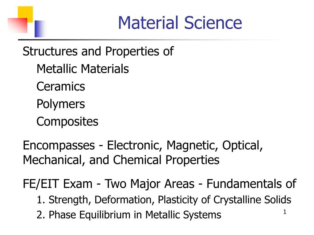 material science l.