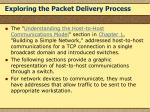 exploring the packet delivery process