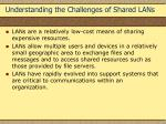 understanding the challenges of shared lans