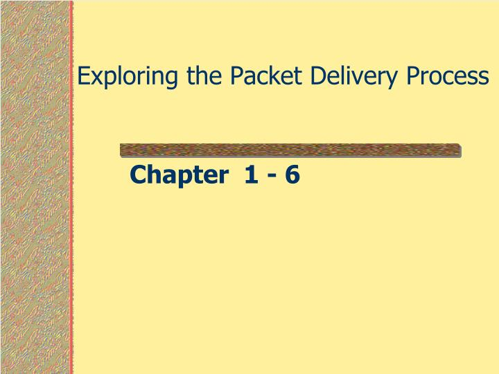 exploring the packet delivery process n.