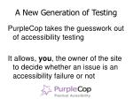 a new generation of testing7