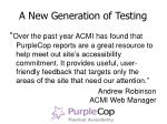 a new generation of testing9