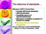 the dilemma of standards