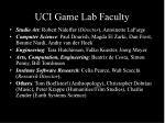 uci game lab faculty