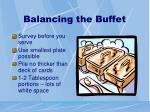 balancing the buffet