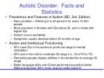 autistic disorder facts and statistics