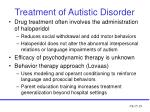 treatment of autistic disorder