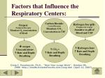 factors that influence the respiratory centers