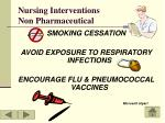 nursing interventions non pharmaceutical