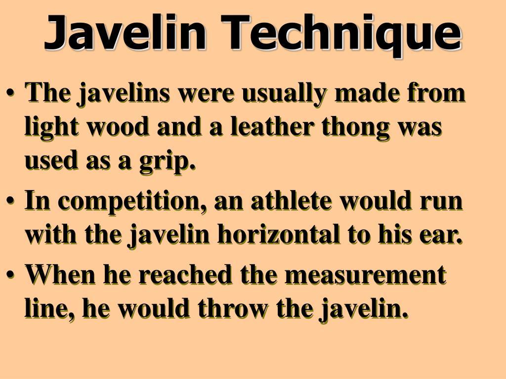 Javelin Technique