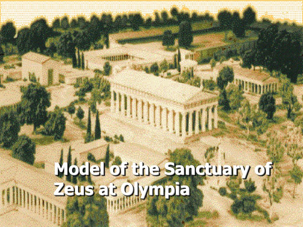 Model of the Sanctuary of Zeus at Olympia