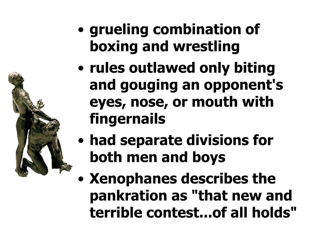 grueling combination of boxing and wrestling