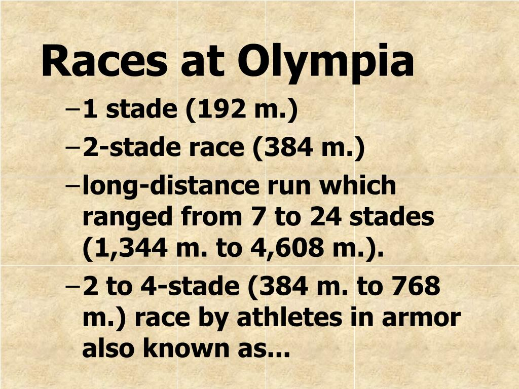 Races at Olympia