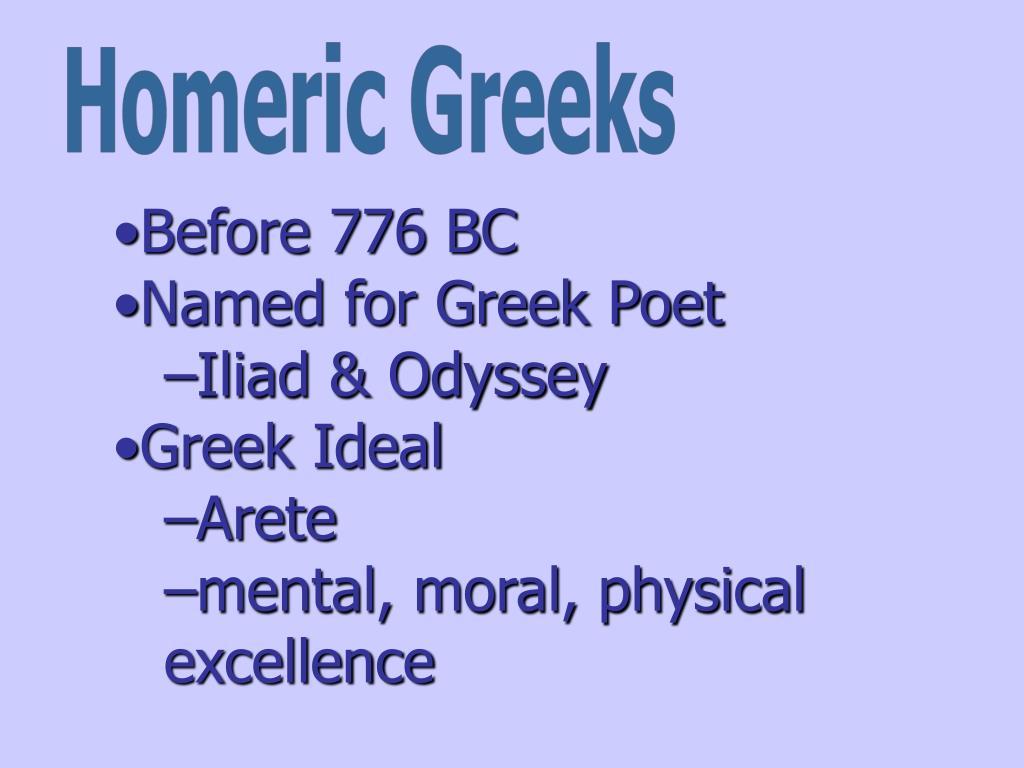 Homeric Greeks