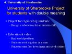 university of sherbrooke project for students with double meaning