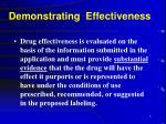 demonstrating effectiveness