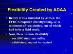 flexibility created by adaa