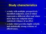 study characteristics26