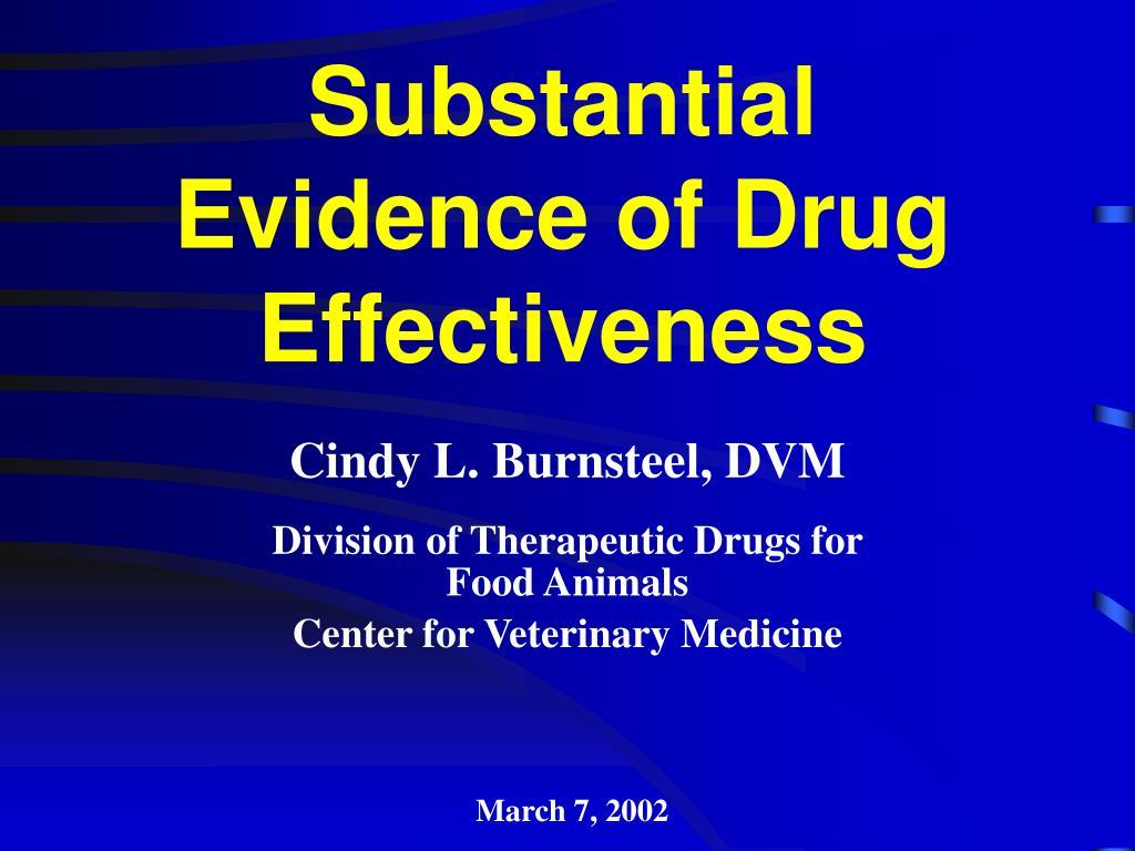 substantial evidence of drug effectiveness l.