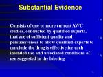 substantial evidence34