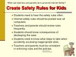 create safety rules for kids
