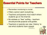 essential points for teachers