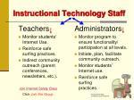 instructional technology staff