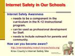 internet safety in our schools