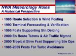 nwa meteorology roles a historical perspective