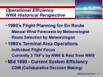 operational efficiency nwa historical perspective