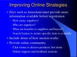 improving online strategies