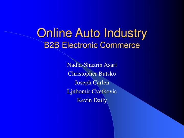 online auto industry b2b electronic commerce n.