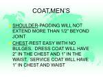 coat men s