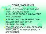 coat women s